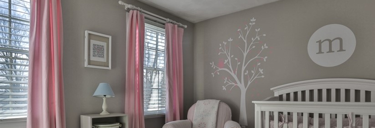 White Wooden Curtain Poles